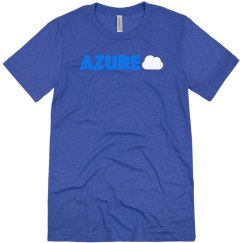Azure Cloud Tee Blue on Blue