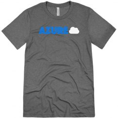 Azure Cloud Tee Blue on Grey