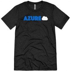 Azure Cloud Tee Blue on Black