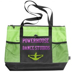 Green Zipper Tote Bag