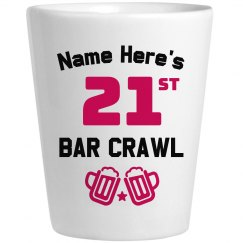 Bar Crawl Shotglass