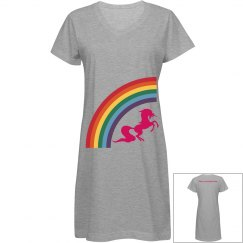 Rainbow Unicorn sleep shirt