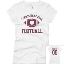 Budget Priced Football Mom Shirt Custom Name Number