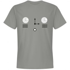Cute Derpy Clock Kitten Tee