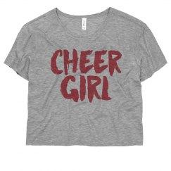 Cheer Girl Vintage Crop
