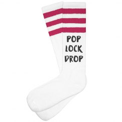 Pop Lock Drop Womens Knee-high Socks