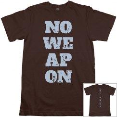 NO WEAPON Shall Prosper Light Blue Text Unisex T-Shirt