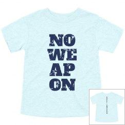 NO WEAPON Shall Prosper Navy Blue Text Toddler T-Shirt