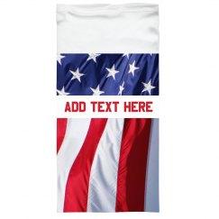 Custom Text Flag Gaiter