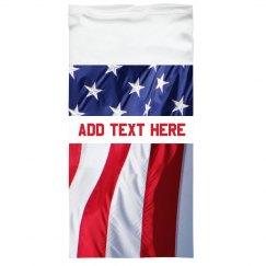Custom Text Flag Gaiter