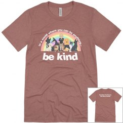 new be kind bella and canvas front back