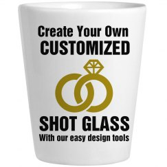 Custom Bridal Party Shot Glass