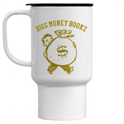 Bigg money Bookz design 2 travel mug