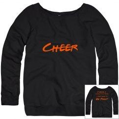 Black Cheer Sweatshirt