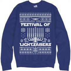 Festival Lightsabers Ugly Sweater