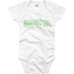 Team New Life Baby Onesie