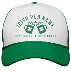 Irish Pub Green Hat St Patricks