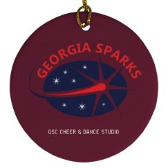 GEORGIA SPARKS PORCELAIN CIRCLE ORNAMENT