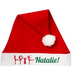 Cheer Santa Hat With Cheerleaders Custom Name