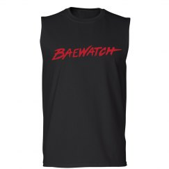 Bae Watch Funny Text Tee