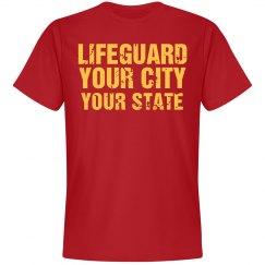 Custom Parody Life Guard Design