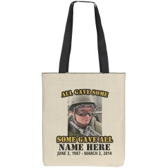 Custom Soldier Memorial Tote Bag