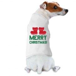 Doggie Claus Dog Tee