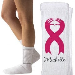 Walking for Michelle Breast Cancer Socks