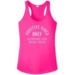 Breast Cancer Runner Custom Name Tank