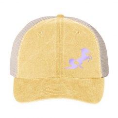 Unicorn snap back - yellow