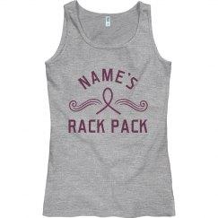Custom Name Rack Pack Cancer Pink