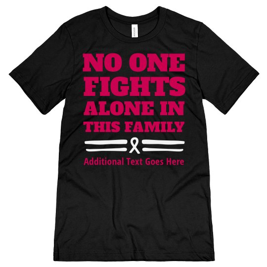 61ac659a Custom Family Breast Cancer Fighter Unisex Jersey T-Shirt
