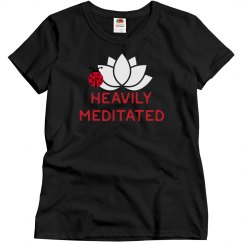 Heavily meditated black tee