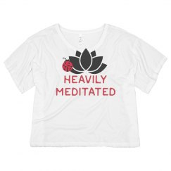 Heavily meditated crop top