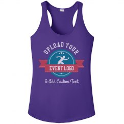 Upload Your Event Logo Performance Racerback Tank