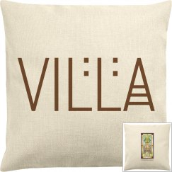 Two sided Canvas Villa Pillow COVER