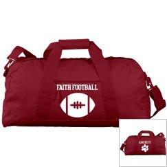 FAITH FOOTBALL DUFFLE