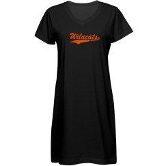 women's t-shirt dress wildcats