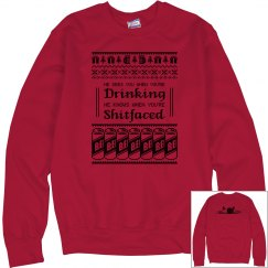 S-Faced Christmas Ugly Sweatshirt Men's