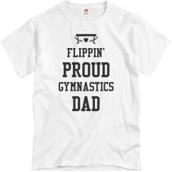 Flippin' Proud Gymnastics Dad