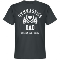 Custom Text Proud Gymnastics Dad