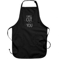 Funny Salon Hair Dresser Barber Apron - I Will Cut You