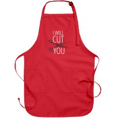 Funny Salon Hair Dresser Barber Apron - I Will Cut You