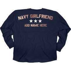 Shiny Custom Navy Girlfriend Jersey