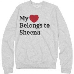 Heart belongs to sheena