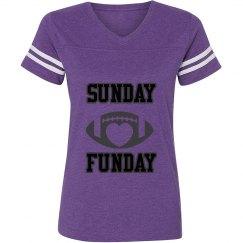 Purple/black/grey ladies football jersey shirt