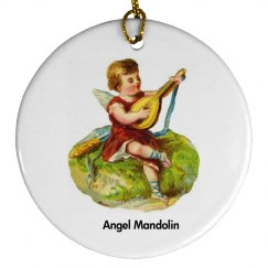 Angel Mandolin Ornament
