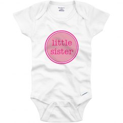Little Sister Onesie Pink Hot Pink