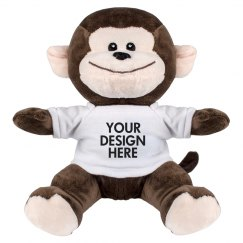 Cute Custom Monkey Stuffed Animal