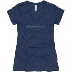 Ladies Slim Fit Super Soft Triblend V-Neck Tee